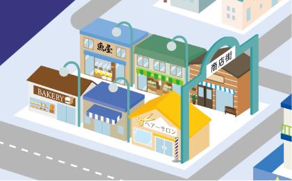 モーダル画像 商店街